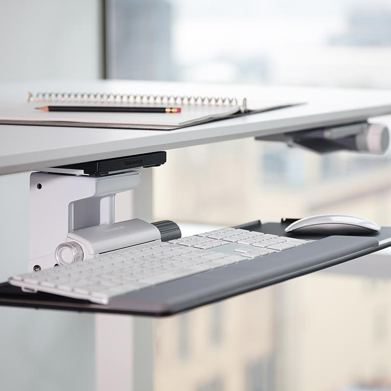 Ergonomic Adjustable Keyboard Tray Side View